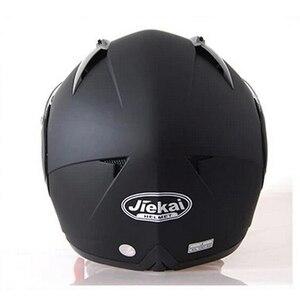 Image 3 - Jiekai capacete de segurança, capacete masculino de corrida com viseira dupla, lente dupla, para moto