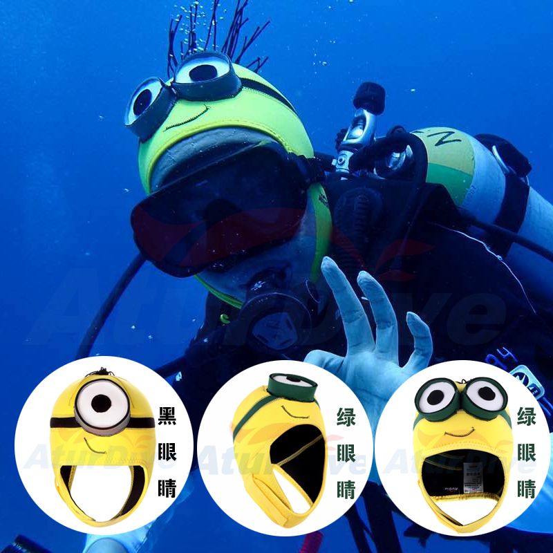 Minions Personality cartoon cute diving cap 4mm thickness Neoprene Scuba Diving Hat Scuba Divers Hood Lovely