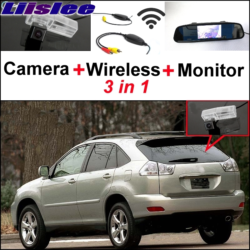 Liislee Special Rear View Camera Wireless Receiver + Mirror Monitor Back Parking System For Lexus RX330 RX350 RX400h 2004~2009 84040 60052 power window master switch for land cruiser prado lexus rx330 gx470 rx350 rx400h 2003 2009