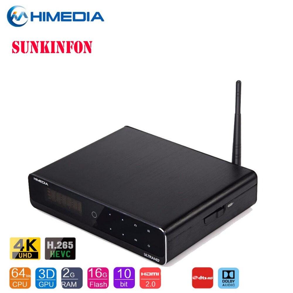 2018 NEW Himedia Q10 Pro Android 7.1 Hi3798CV200 4K HDR 2G/16G TV BOX 802.11AC WIFI 1000M LAN Dolby DTS 3.5 SATA HDD Bluetooth egreat a10 tv box 4k uhd media player hi3798cv200 2g 16g wifi gigabit lan hdr 10 blu ray 3d dolby atoms dts wireless keyboard