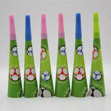 Football animal cartoon theme trumpet children's birthday holiday party atmosphere decorative items 6 pieces(China)