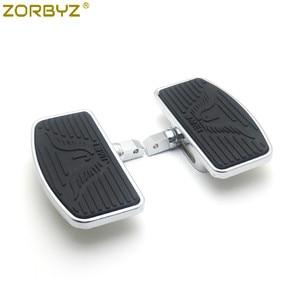 Image 2 - ZORBYZ motosiklet ayarlanabilir döşeme ayaklıklar Footrest Pad Honda VTX1300 VTX1800 Suzuki VL400 C50