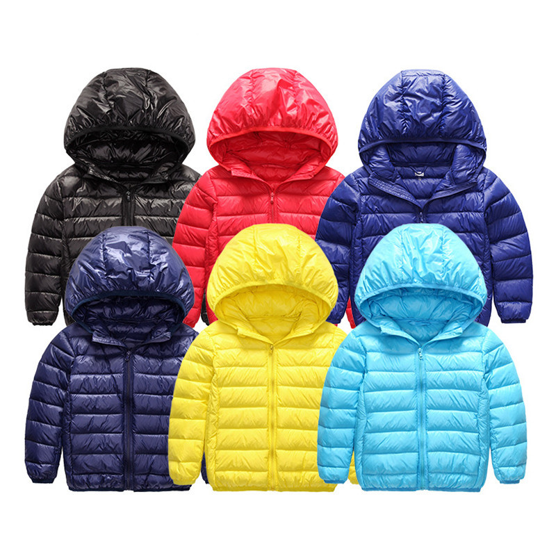 Autumn 2-15Y Girls Parka Boys Jacket Light Toddler Down Children Clothing Outerwear Thin Casaco Kids Clothes Casual Baby Coat allenjoy photography backdrops chevron cute yellow elephants baby shower backgrounds for photo studio photography background