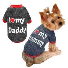 Одежда для собак для маленьких собак, щенков, кошек, одежда для чихуахуа, мопса, милый костюм для питомцев, футболка, жилет для осени и зимы
