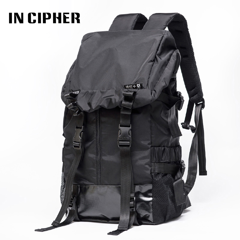 2e85443ec3504b Best buy In Cipher double shoulder backpack new solid color outdoor  drawstring men and female travel sports climbing hiking backpack online  cheap