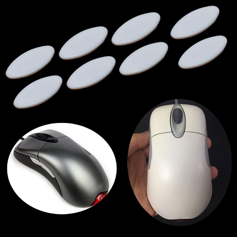 2 Sets/pack Tiger Gaming Mouse Feet Mouse Skate For Microsoft IE3.0 IO1.1 White Teflon Mouse Glides Curve Edge
