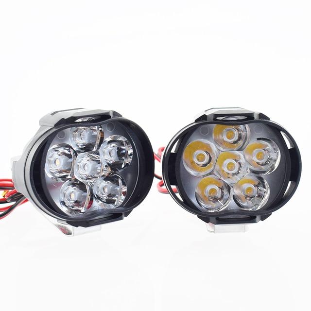 Phare de travail 12V 6500k moto | Phare auxiliaire de travail pour la conduite, phare antibrouillard pour moto, projecteur de Scooter ATV
