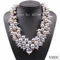 Китайский продукт завод прямых продаж высокое качество заявление элегантный ювелирные изделия белый жемчужное ожерелье конструкции на рождество