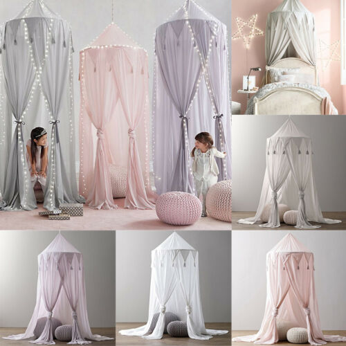 Princess Baby Mosquito Net Bed Kids Canopy Bed cover Curtain Bedding Dome Tent Elegant Round Lace Bed Canopy Netting