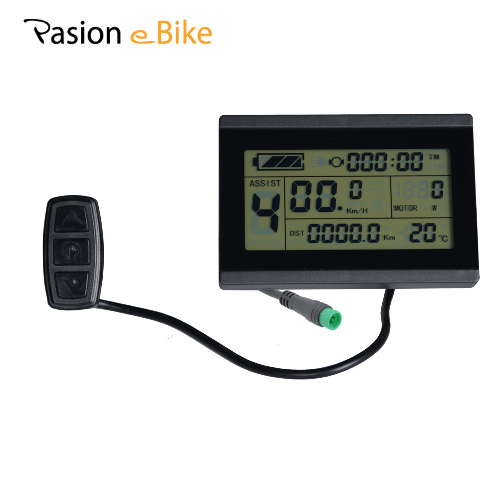 PASION E BIKE 24V 36V 48V LCD Control Panel LCD Display Electric Bicycle Cycling bike Computer Parts for Sondors Bikes USA js lcd display for electric bicycle waterproof original connector manual control panel mount on the bike handlebar 36v cycling