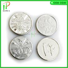 1000 шт аркадный парк развлечений 25*1,85 мм игровой автомат жетон из нержавеющей стали монета Сделано в Китае игровой жетон