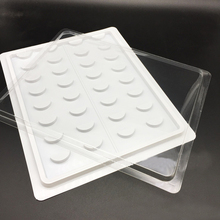 16 Pairs/Set 3D Eyelash Packing Box Makeup Display Plastic Container Eyelashes Sample Catalog Grafting Card