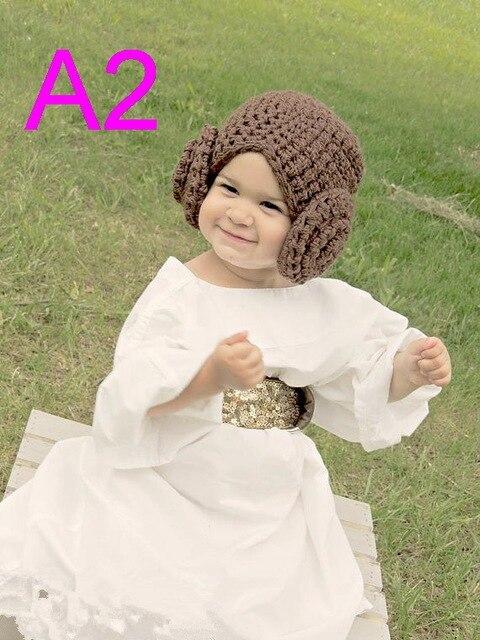 Top Princesse Leia Style Crochet Bébé Chapeau De Star Wars Pour fille  NS21