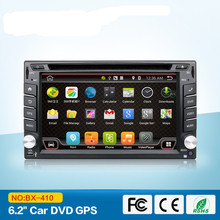 Universal 2 din Android 4.4 Coches reproductor de DVD GPS + Wifi + Bluetooth + Radio + DDR3 + Táctil Capacitiva pantalla + 3G + pc del coche + aduio 16G Quad Core