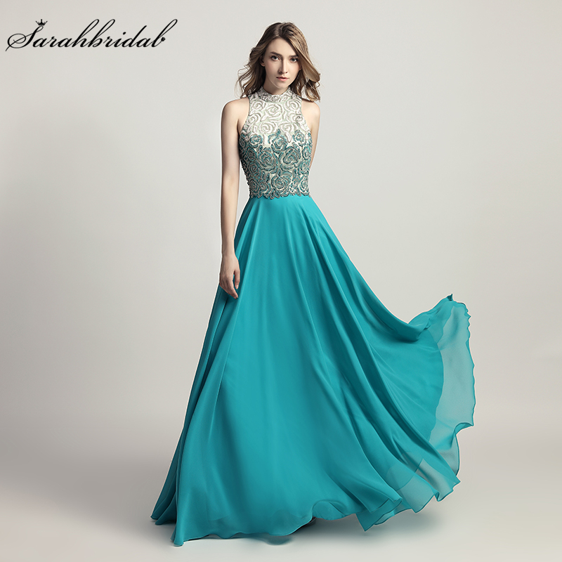 Newest Luxury Formal Robe De Soiree Styles Elegant Long A Line   Evening     Dresses   Crystal Party Gowns Real Photos LSX419