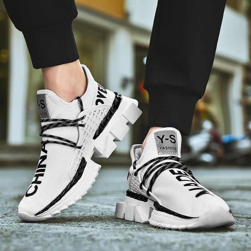 سوبر كول الهواء شبكة عالية أعلى احذية الجري للرجال حذاء من الجلد الذكور مكتنزة الارتفاع زيادة أحذية رياضية رياضية الذكور أحذية رياضية
