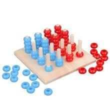Montessori Sensory Toys Brain Game Early Education Profession Teaching Aids Three-dimension Chess montessori teaching aids touchpad board children early education sensory teaching wooden toys educational toys