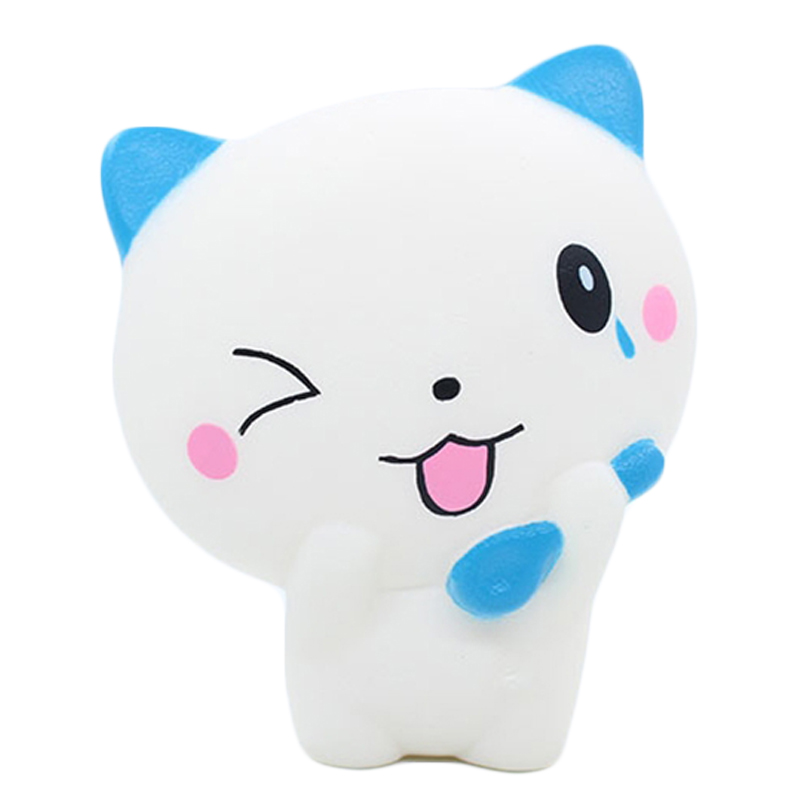 New Cute Cat Squishy Cartoon Kitty Doll Squishies Slow Rising Simulation Scented Bread Squeeze Toy Stress Relief For Kid Gift