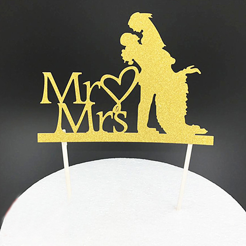 Cake Topper Party Creative Mr&Mrs Cake Small Flags Korean Wedding ...