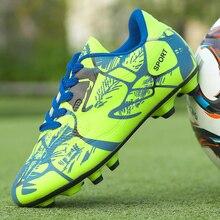 7a2e806570 2018 Размеры 33-44 Для мужчин мальчик дети шипованные кросовки для футбола  Футбол фуnбольные бутсы хард кроссовки новый дизайн Ф..