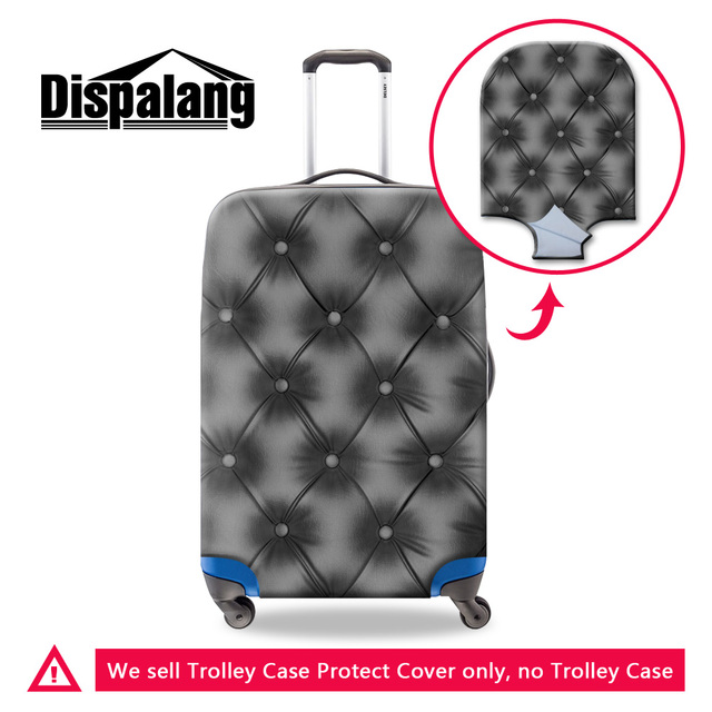 Dispalang new 3D black geometric elastic travel suitcase protector covers apply to 18-30 inch case stretch durable luggage cover