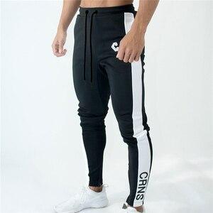 Image 4 - Мужские джоггеры, тренировочные штаны, тренировочные штаны для спортзала, фитнеса, на молнии, облегающие спортивные брюки до щиколотки, мужские брендовые штаны для мужчин