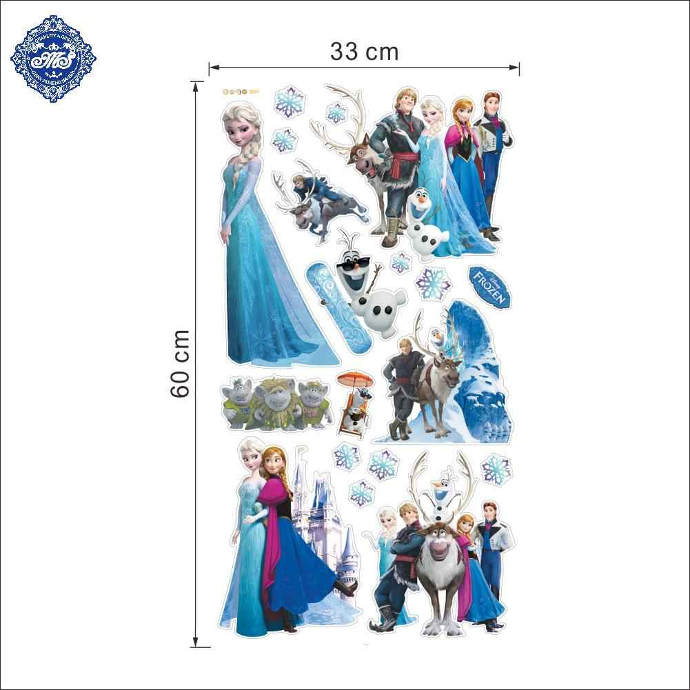 Hot Queen Olaf Anna Elsa Wall Sticker Posters Art Cartoon Movie Reine Des Neiges Home Decor Decoration Chambre For Kids Bedroom Decoration Chambre Home Decorelsa Wall Sticker Aliexpress