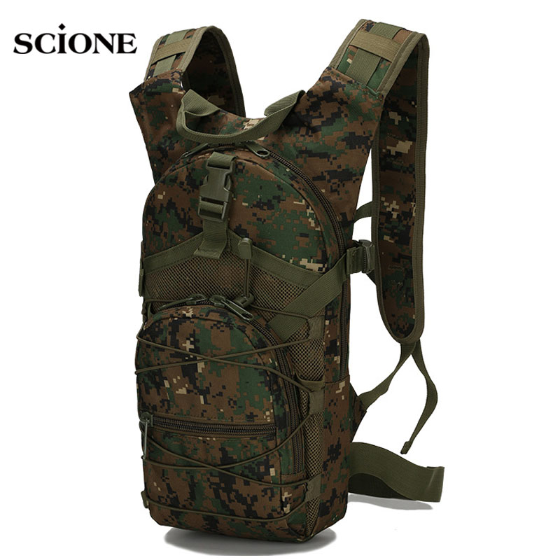 15L Outdoor Riding Backpack Sport Bag 3P Tactical Military Oxford Bicycle Backpacks Women Men Cycling Running Rucksack XA568