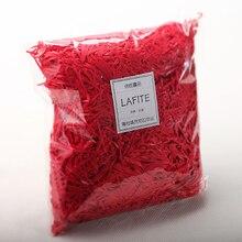 100 г/лот красный натуральный Лафит трава измельчения творческий конфеты коробка подарочная коробка наполнитель свадебного торжества поставки
