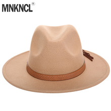 MNKNCL Autumn Winter Sun Hat Women Men Fedora Hat Classical