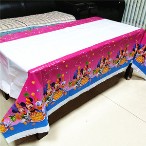 Image 4 - ミッキーマウステーブルクロス子供の誕生日パーティー用品ミニーマウステーブルクロスベビーシャワーミッキーミニー使い捨てテーブルクロス
