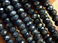 Free shipping (90 beads/set/82g)  natural 5-5.5-*9mm faceted rondelle  sapphire  stone beads