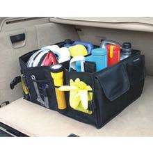 Caixa de armazenamento de carro dobrável mala do veículo caixa de ferramentas de inicialização traseira multi uso organizador arrumado sacos de compras