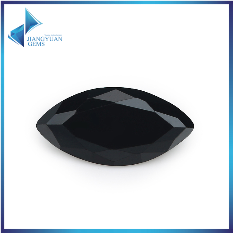 50Pcs Marquise Shape 5A Black CZ Stone 1.5x3-10x20mm Synthetic Gems Cubic Zirconia Beads For Jewelry