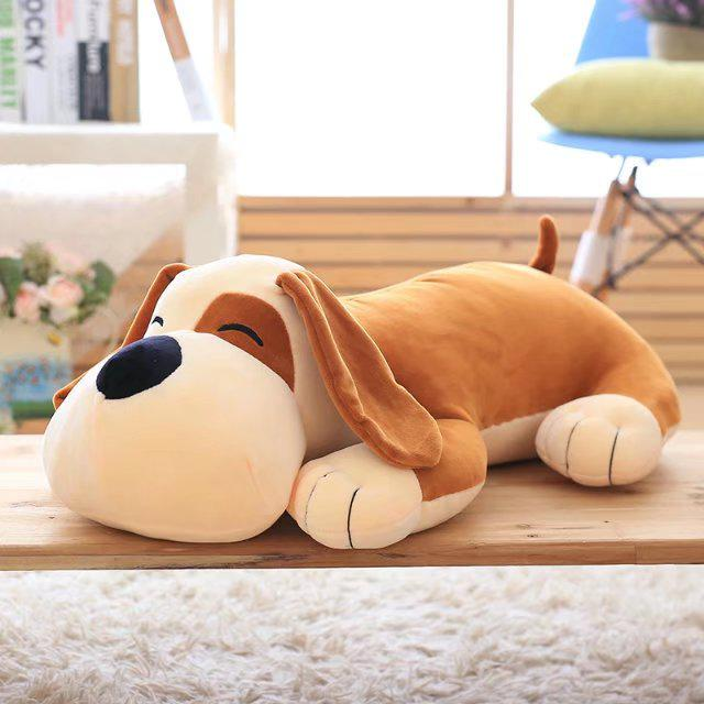 Hot Sale Dog Plush Toy 50cm 60cm 70cm Sleeping Dog Soft Stuffed Pillow Stuffed Very Soft New Style Birthday Gift Kids Gift 1pcs 1pcs 50cm stuffed dolls rubber duck hongkong big yellow duck plush toys hot sale best gift for kids girl