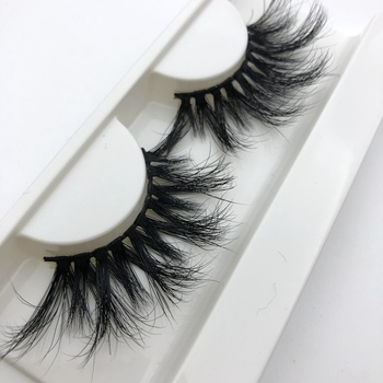 Mikiwi 25mm Long 3D mink lashes extra length eyelashes Big dramatic Mink Lashes 100% Cruelty free Handmade fake