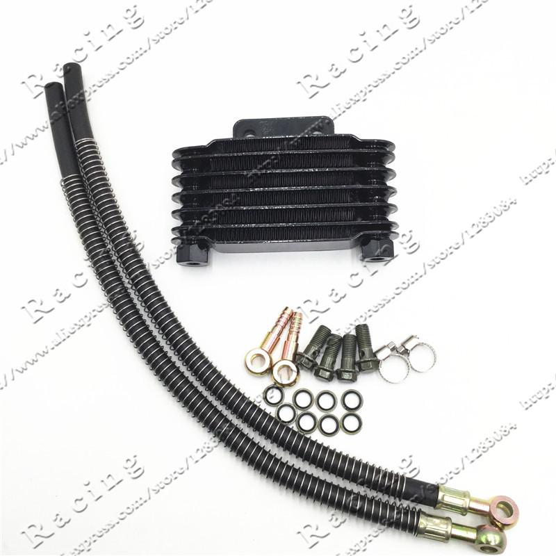 Small Oil Cooler radiator Dirt <font><b>Pit</b></font> <font><b>Bike</b></font> Monkey Racing Motorcyle High performance refit accessories Kayo BSE Chinese 110 <font><b>125CC</b></font> image