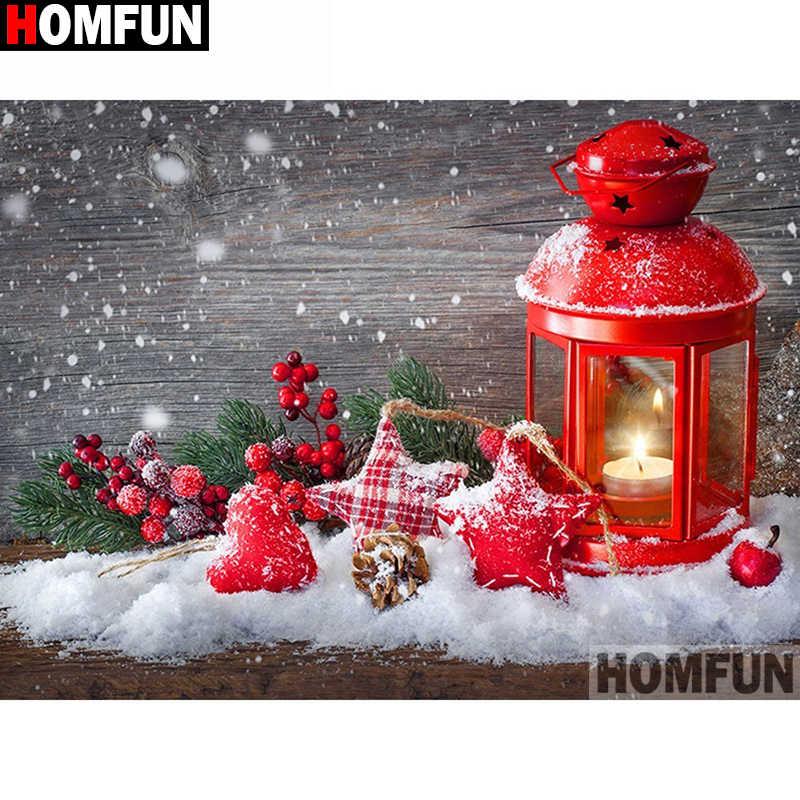 """HOMFUN полный квадратный/круглый дрель 5D DIY алмазная живопись """"Красная масляная лампа"""" вышивка крестиком 5D домашний Декор подарок A14936"""