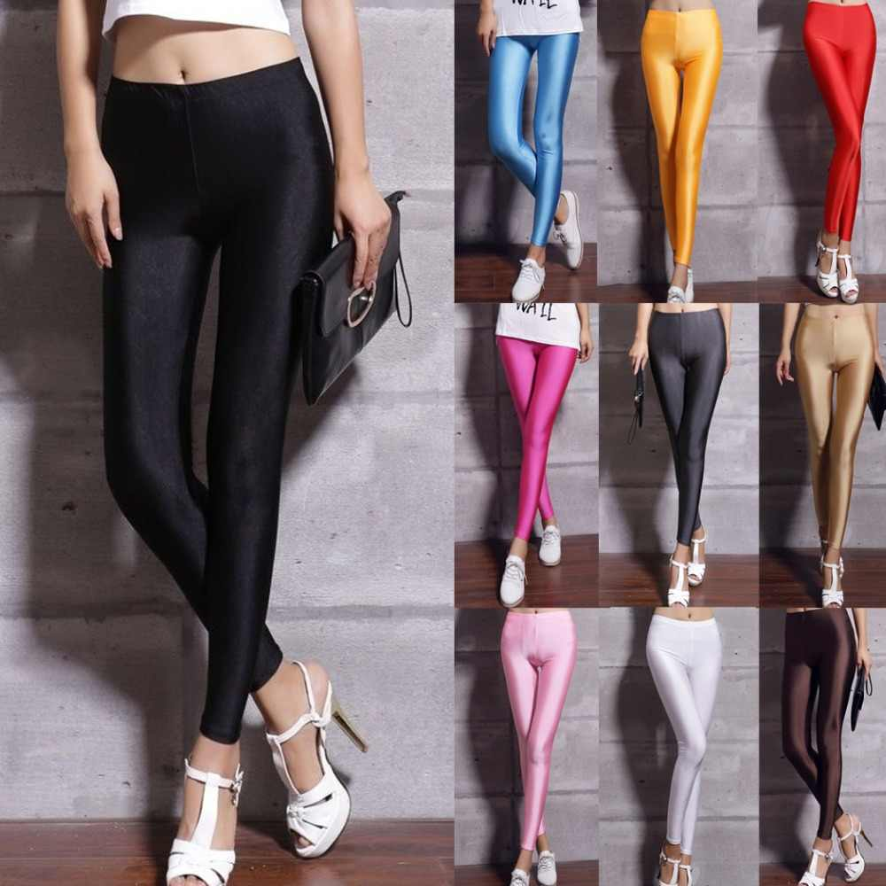 7a8d72bd7c1372 Candy Color Fitness Leggings Women Sexy Plus Size Elastic Skinny Legging  Pants Female Workout Leggins Casual