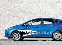 מדבקות לרכב אכזרית כריש פה Creative מדבקות עמיד למים כוונון אוטומטי סטיילינג 100*30 ס