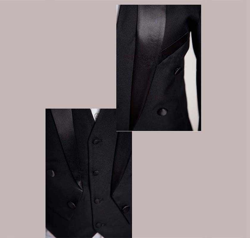 Traje de boda blanco y negro de diseño clásico para hombre/esmoquin para novio/Fiesta de noche/traje de baño chaqueta de 4 piezas (chaqueta + Pantalones + cinturón + corbata)