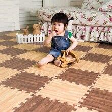 2019 New 30*30cm Kids Carpet Foam Puzzle Mat EVA Shaggy Velvet Baby Eco Floor 16 Colors for Living Room Tapetes Para Casa Sala