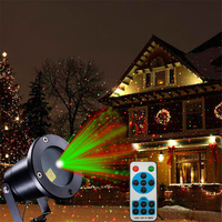 Thrisdar Green Red Star Laser Projector Light Outdoor Garden Christmas Shower Motion Projector Lawn Lamp R&G Laser Stage Light