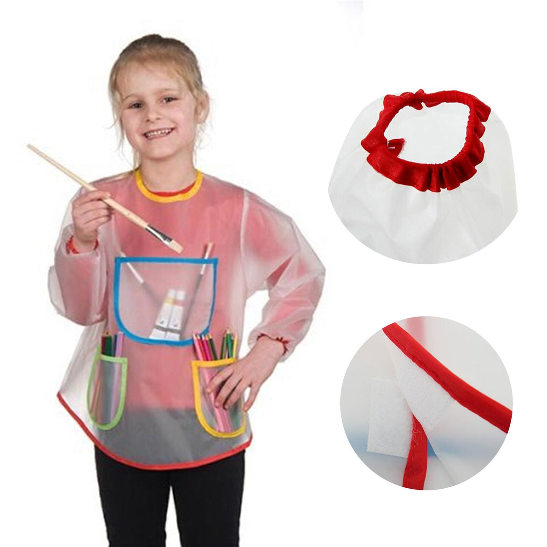 Multifungsi Anak Bayi Apron Baju dengan 3 Kantong Lukisan Menggambar Anak anak Rumah Apron Anti Wear Tahan Air Kostum Kerajinan LW154 di Celemek dari Rumah