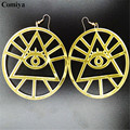 Round hollow out acrylic eyes charm new women gift dangle earrings brincos wholesale rock style punk Drop Earring pendientes
