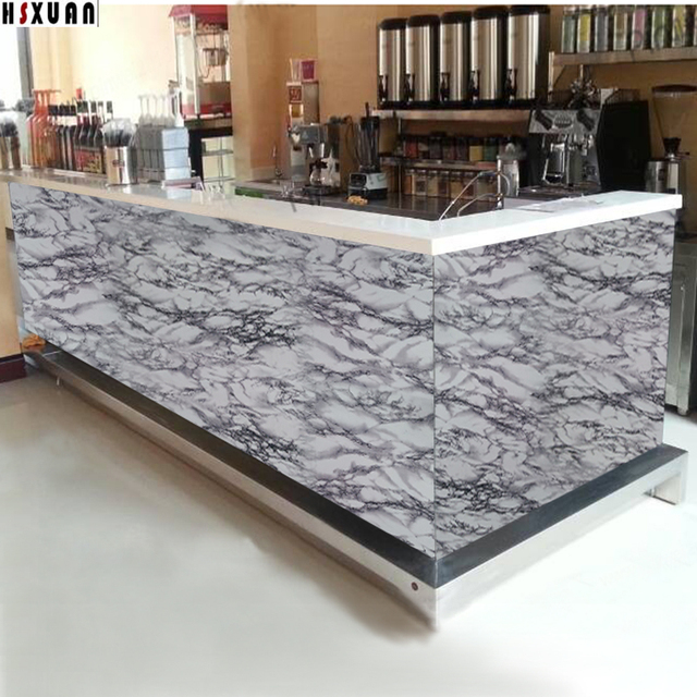 pvc stone grain paper film decal countertop door&cabinet glass home