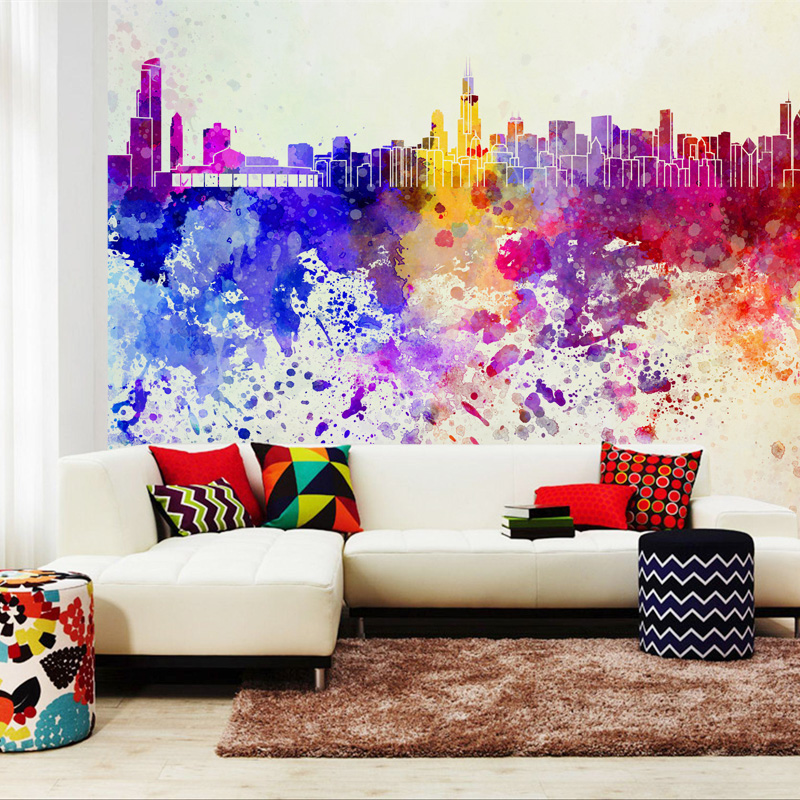 Photo wallpaper abstract art wall mural non woven modern charm wallpapers for home walls living room in wallpapers from home improvement on aliexpress com