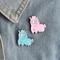 Kawaii овечка Альпака Брошь для женщин девочка мультфильм животное куртка воротник лацкан значки кнопки розовая синяя мода эмаль ювелирные из...