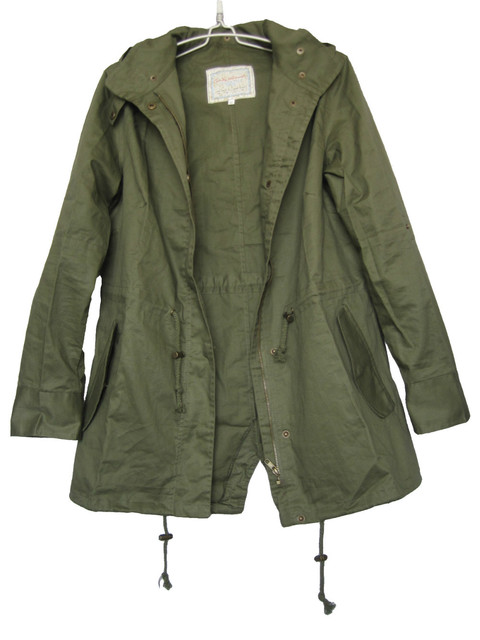 New Womens Hooded Military Army Green Jacket Coat Hoodie Parka Trench Coat 4 Sizes