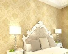 цена на beibehang European style wallpaper nonwoven fabric anaglyph cozy bedroom living room TV background papel de parede 3d wallpaper